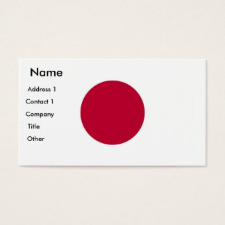 Business Card with Flag of Japan