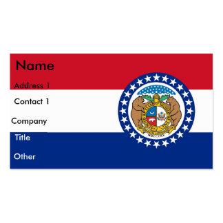 Business Card with Flag of Missouri U S A