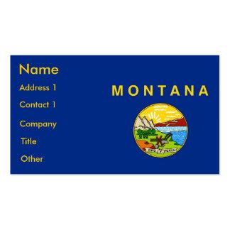 Business Card with Flag of Montana U S A