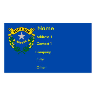 Business Card with Flag of Nevada U S A