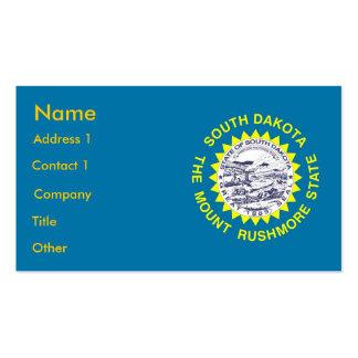 Business Card with Flag of South Dakota U S A