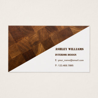 Business Card with natural wooden board background
