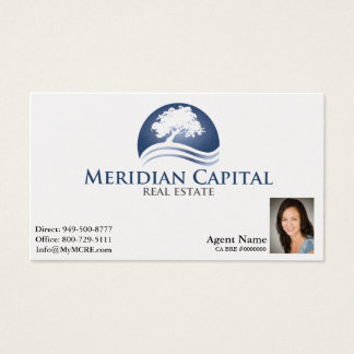 Business Card with Photo on Bottom Right- Pearl