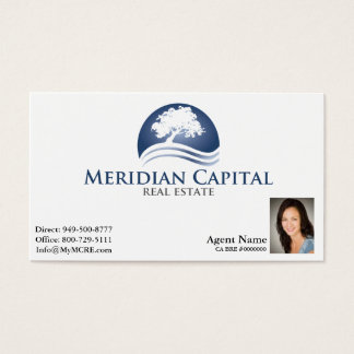Business Card with Photo on Bottom Right- White