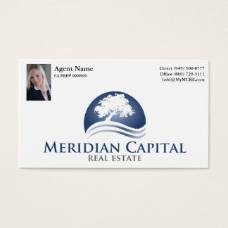 Business Card with Photo- Standard White Finish
