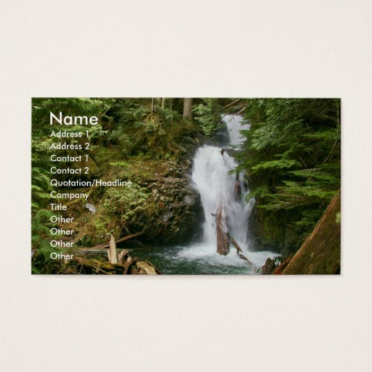 Business card with waterfall backg... - Customised