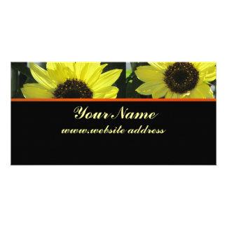 Business Card - Yellow Sunflowers - Multipurpose Photo Card