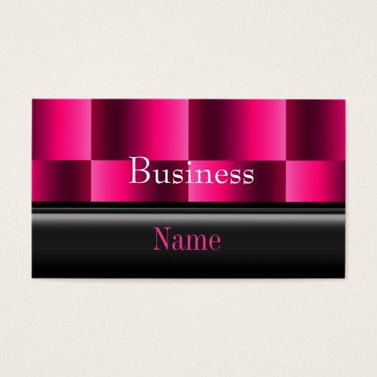Business Card Zizzago Rich Pink Reflect