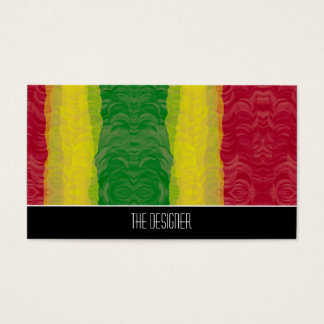 Business Cards Abstract Rasta Red Yellow Green
