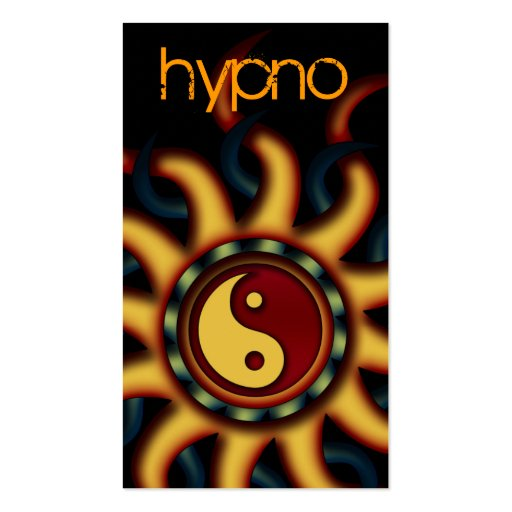 Business Cards Abstract Yin Yang Sunshine, Orange
