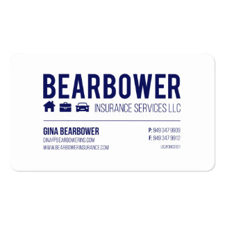 Business Cards || Bearbower Insurance > GINA