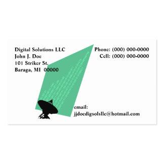 Business Cards Binary Digits Bits & Bytes Stream