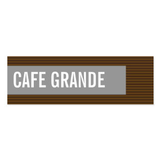 business cards > cafe grande [chocolate : grey]