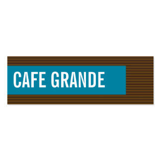 business cards > cafe grande [chocolate : teal]