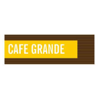 business cards > cafe grande [chocolate : yellow]
