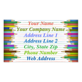 Business Cards - Colored Pencil Lines