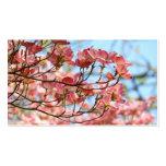 Business Cards custom Pink Dogwood Flowers
