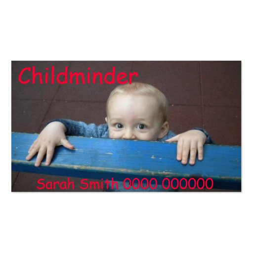 Business Cards for Childminders Business Card Template