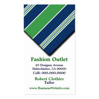 Business Cards For Clothier Mens Suits