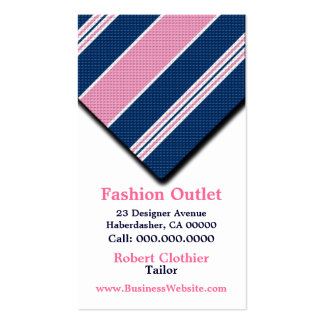 Business Cards For Clothier Menswear