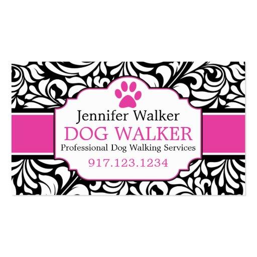 Business Cards For Dog Walkers   Dog Groomer