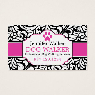 Business Cards For Dog Walkers | Dog Groomer