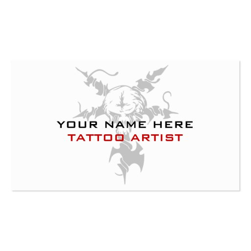 Business cards for tattoo artists zazzle for Business card size tattoos