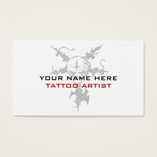 Business Cards For Tattoo Artists