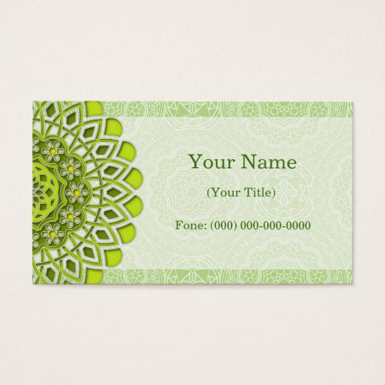 business cards geometric mandala
