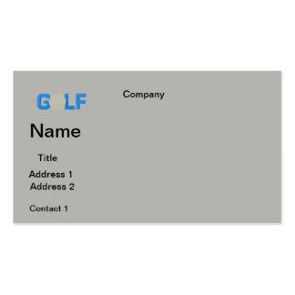BUSINESS cards GOLF  DESIGN