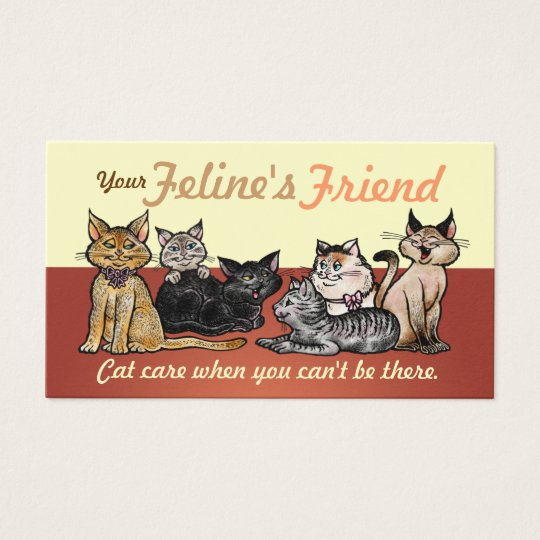 Business Cards Happy Cats Two Sided Customisable