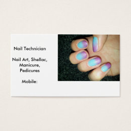 Mobile nails business cards business card printing zazzle uk business cards nail technician reheart Gallery