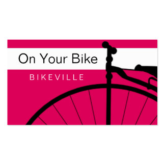 business cards > on your bike [pink : orange]