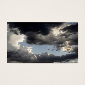 Business Cards - PHOTOGRAPH OF DARK CLOUDS