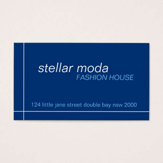 business cards > stellar moda [navy+blue]