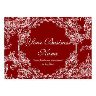 Business Cards - Toile Damask Swirl Floral Baroque