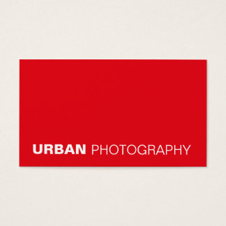 business cards > urban photography  [red]