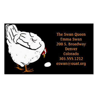 Business Cards Victorian Woodcut Chicken and Egg