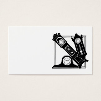 Business Cards with Antique Clocks