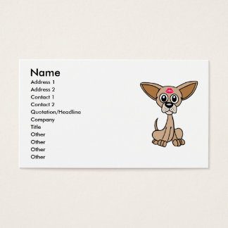 Business Cards with Cute Chihuahua Dog