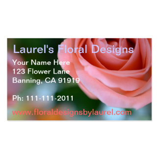 Business Cards with Pink Rose Design