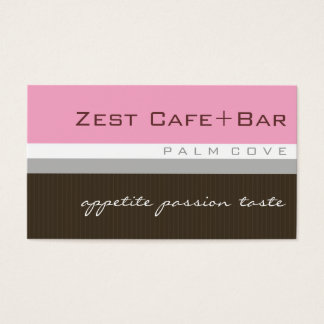 business cards > zest [baby pink+chocolate]