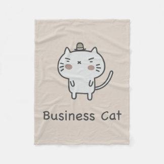 Business Cat Fleece Blanket