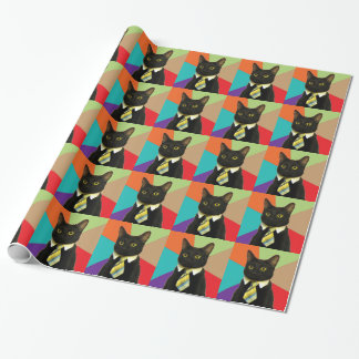 Business Cat Gift Wrap