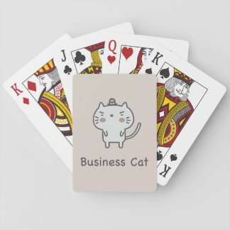 Business Cat Playing Cards