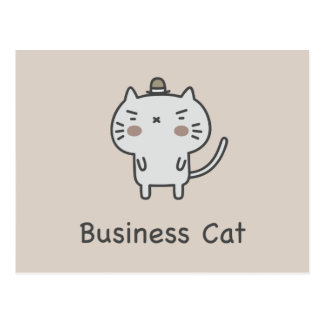 Business Cat Postcard