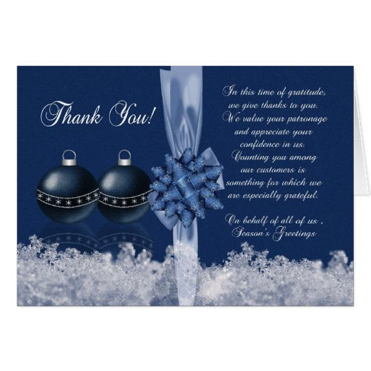 Merry christmas holiday photo greeting cards zazzle business christmas thank you card seasons greet reheart Gallery