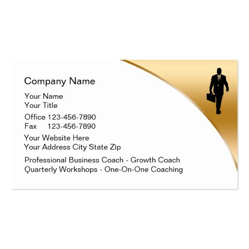 Business Coach Business Cards