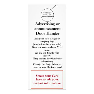 Business Company Door Hanger Brochure Flyer Hanger Rack Card