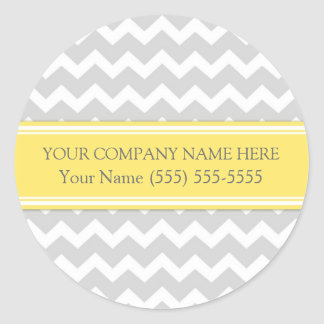 Business Custom Company Name Stickers Grey Chevron